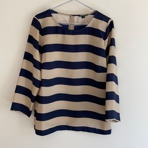 Ok NEW JCrew navy and stone top/shirt size medium